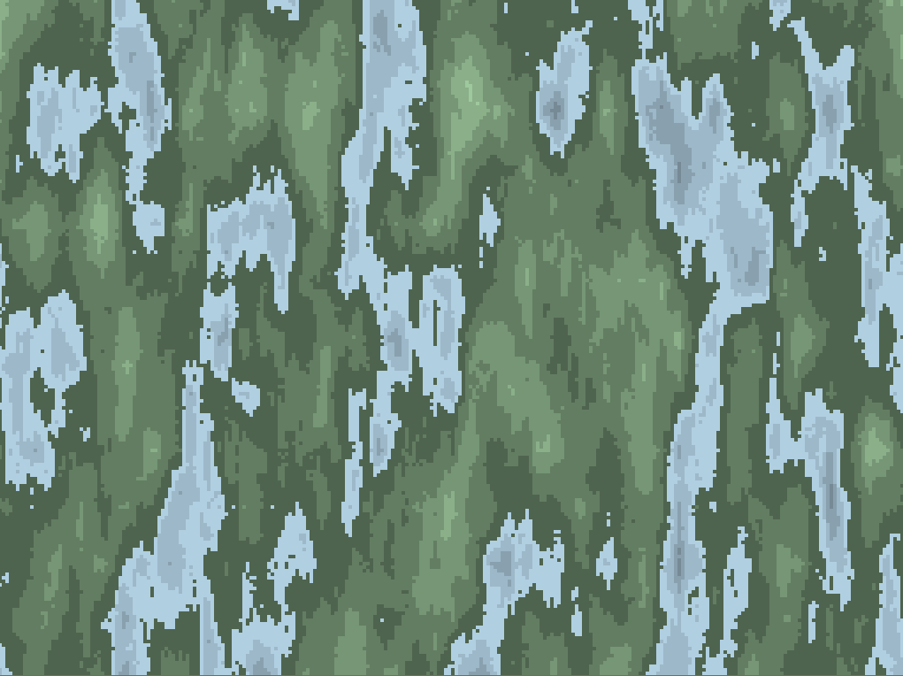 2D Perlin Noise Map Curved into 3D Cylinder