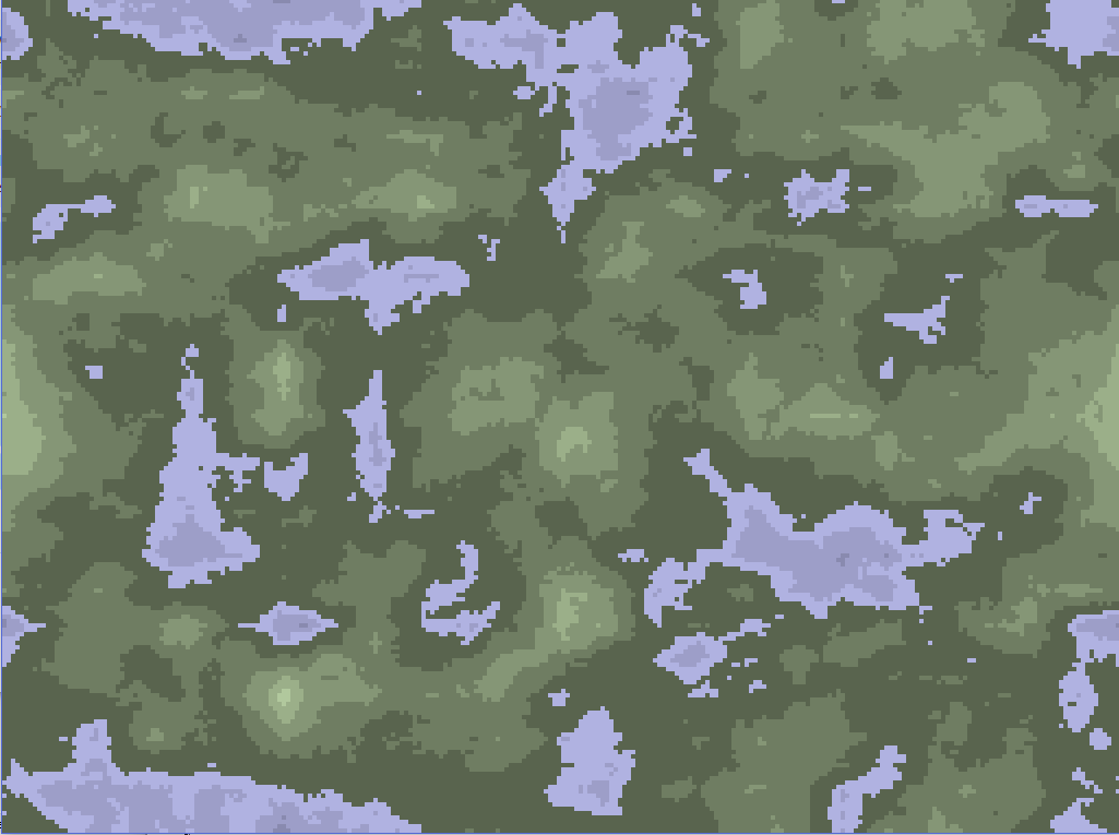 2D Perlin Noise Map Wrapped in 4D Space